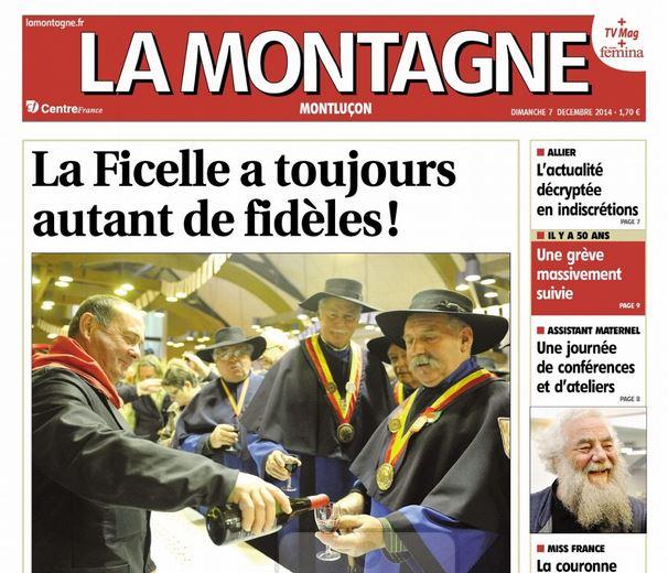 Première page La Montagne
