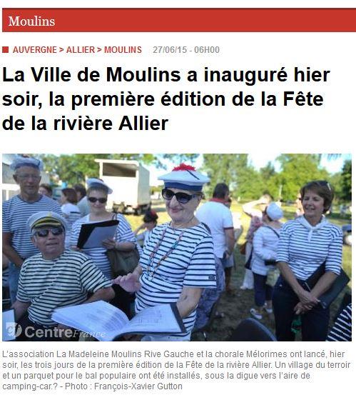 La Montagne Moulins 02-07-2015